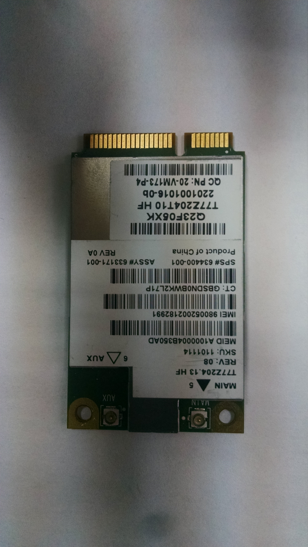 Модуль мобильной связи WWAN Wireless T77Z204.14 HF 20-VM173-P3 WIRELESS CARD Gobi3000