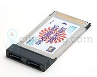 Контроллер-переходник PCMCIA на SATA RAID 2-порта