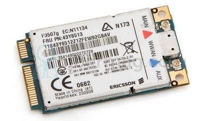 Lenovo Ericsson F3507g FRU 43Y6479 WWAN 3G 2G GPS