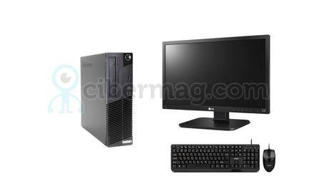Комплект системный блок Lenovo M70E + Монитор LG 24Mb65PY-B + Клавиатура + мишь