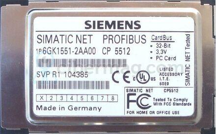 SIEMENS SIMATIC NET PROFIBUS/MPI CP5512 CARDBUS PCMCIA