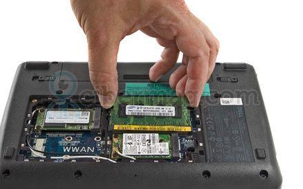 Замена модуля оперативной памяти