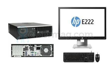 Комплект системный блок HP Compaq 8200 Elite SFF + Монитор HP EliteDisplay E222 + Клавиатура + мышь