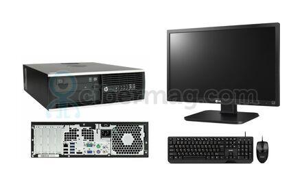 Комплект cистемный блок HP Compaq 8200 Elite SFF + Монитор LG 24Mb65PY-B + Клавиатура + мишь