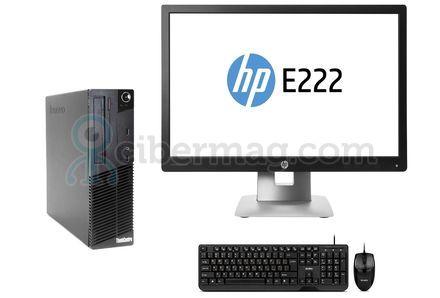 Комплект системный блок Lenovo M70E + Монитор HP EliteDisplay E222 + Клавиатура + мишь