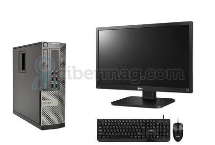 Комплект системный блок Dell Optiplex 990 SFF + Монитор LG 24Mb65PY-B + Клавиатура + мишь
