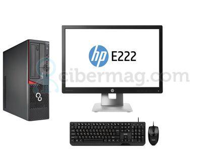 Комплект системный блок Fujitsu Esprimo E700 SFF + Монитор HP EliteDisplay E222 + Клавиатура + мышь
