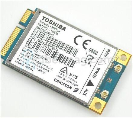 Toshiba NOTEBOOK k000091770 3g UMTS 900 board mini PCIe g86c0004n510 f3607gw