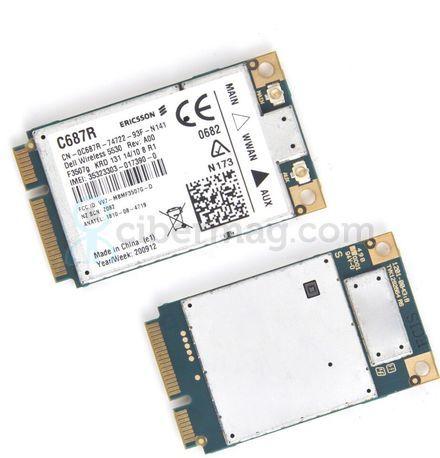 Dell Wireless 5530 HSPA 3G GPS Mini-Card WWAN Ericsson F3507G C687R E6