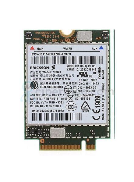 3G модем Ericsson N5321 для ноутбука Lenovo M.2 vv7-mbmn5321 04w3842